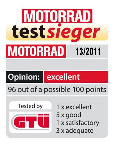 Το 2011 ως καλύτερη μπαταρία μοτοσυκλέτας στο περιοδικό MOTORRAD