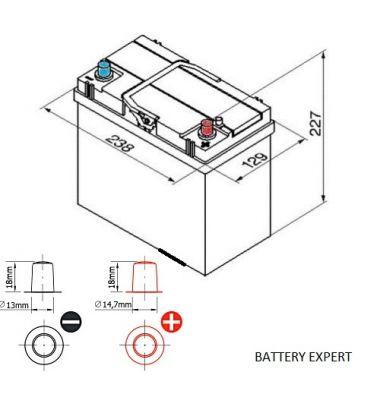 Μπαταρία Αυτοκινήτου START POWER 54584 45AH 300A | battery-expert.gr