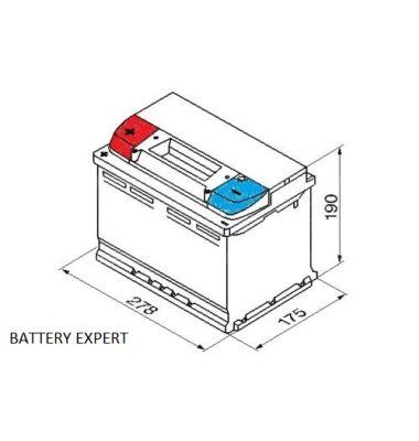 Μπαταρία αυτοκινήτου START POWER 57219 72AH 640A | battery-expert.gr