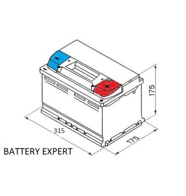 Μπαταρία Αυτοκινήτου INTACT X-POWER X80 80AH 670A 12V | battery-expert.gr