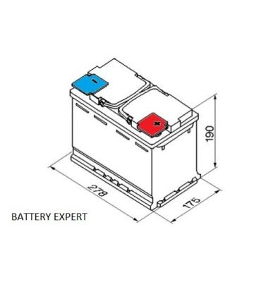 Μπαταρία START-STOP AFB680 70AH 800A | battery-expert.gr