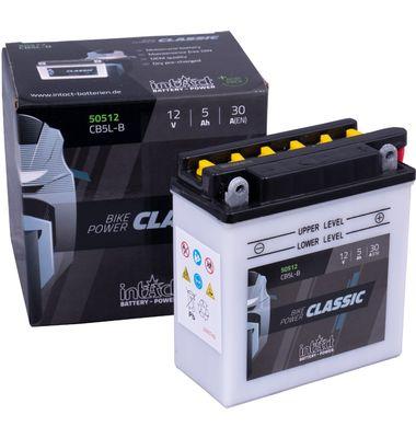 Μπαταρία Μοτοσυκλέτας INTACT YB5L-B 5AH | battery-expert.gr