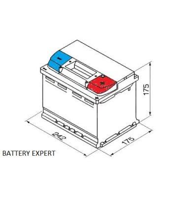 Μπαταρία Αυτοκινήτου INTACT X-POWER 60AH | battery-expert.gr