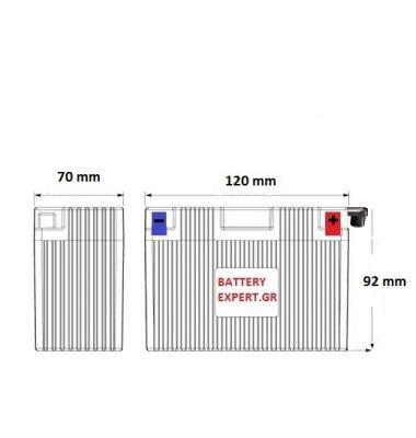 Μπαταρία Μοτοσυκλέτας YB5L-B | battery-expert.gr