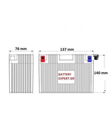 Μπαταρία Μοτοσυκλέτας CLASSIC YB9-B 9AH | battery-expert.gr