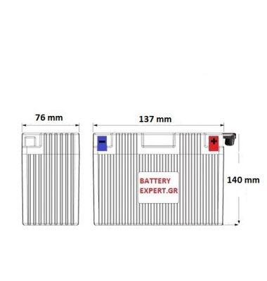 Μπαταρία Μοτοσυκλέτας YB9L-B | battery-expert.gr