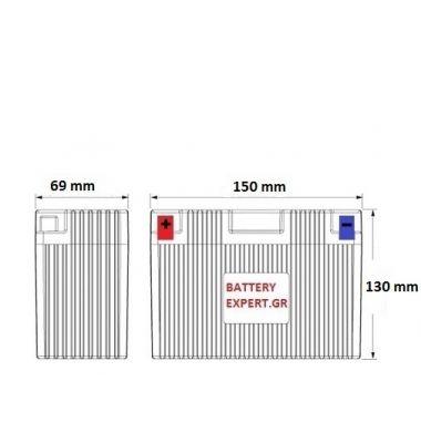 Μπαταρία Μοτοσυκλέτας YT12B-4 | battery-expert.gr