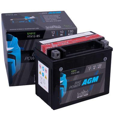 Μπαταρία Μοτοσυκλέτας INTACT YTX12-BS 10AH | battery-expert.gr