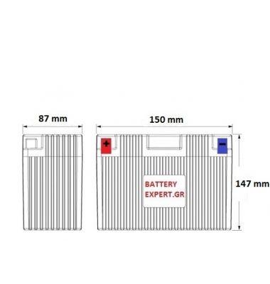 Μπαταρία Μοτοσυκλέτας YTX14-BS 12AH BIKE AGM | battery-expert.gr