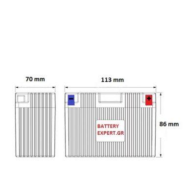Μπαταρία Μοτοσυκλέτας ΜΟΤΟ YTZ7-S 6AH | battery-expert.gr